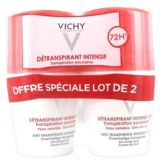 Vichy Intensive Antiperspirant 72H Excessive Perspiration 2 x 50ml