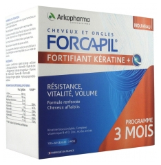 Arkopharma Forcapil Fortifying Keratin+ 3 Month Program 120 + 60 Capsules