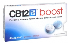 CB12 Boost Strong Mint 10 Gommes à Mâcher