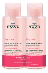 Nuxe Very rose Eau Micellaire Apaisante 3en1 Lot de 2 x 400 ml