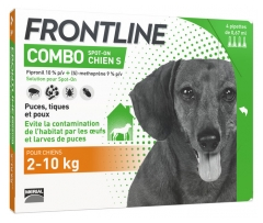 Frontline Combo Dog Size S (2-10kg) 4 Pipettes