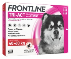 Frontline TRI-ACT Dogs 40-60kg 6 Pipettes