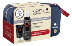 Vichy Homme Kit Anti-Irritations + Trousse FAGUO Offerte