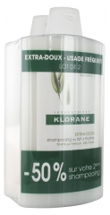 Klorane Extra-Gentle Shampoo with Oat Milk 2 x 400ml