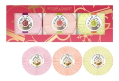 Roger & Gallet Set 2020 Trio of Scented Soaps with Flowers and Red Ginger