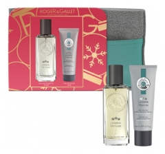 Roger & Gallet Kit 2020 L'Homme Vetyver Eau de Toilette 100ml + Mint Body Face & Hair Shower Gel 50ml Offered