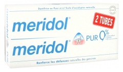 Meridol Dentifrice Pur Lot de 2 x 75 ml