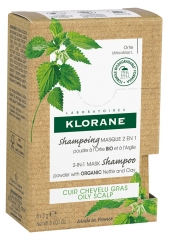 Klorane 2-in-1 Mask Shampoo Nettle and Clay 8 Sachets