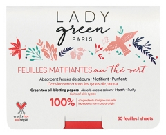 Lady Green Voile de Perfection Grüner Tee Matifying Leaves 50 Blätter