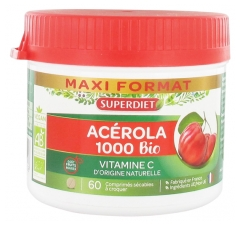 Super Diet Acerola 1000 Bio 60 Breakable Tablets to Crunch