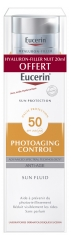 Eucerin Sun Protection Photoaging Control Sun Fluid SPF50 50 ml + Hyaluron-Filler Soin de Nuit 20 ml Offert