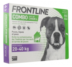 Frontline Combo Dog Size L (20-40kg) 6 Pipettes