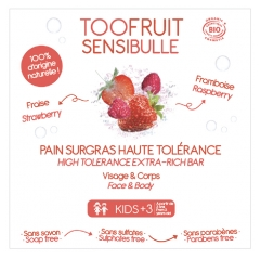 Toofruit Sensibulle High Tolerance Ultra-Rich Dermatologic Bar Raspberry Strawberry 85 g