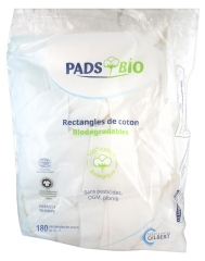 Gilbert Organic Pads 180 Cotton Rectangles 8 x 10cm