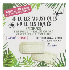 Laboratoire Source Origine Repulstick Bracelet / Chevillère Adaptable 2 Recharges