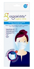 Orgakiddy Sterile Medical Face Mask Pouch of 10 Masks
