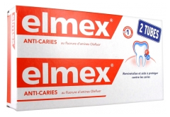 Elmex Dentifrice Anti-Caries Lot de 2 x 125 ml