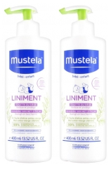 Mustela Liniment Flacon-Pompe Lot de 2 x 400 ml
