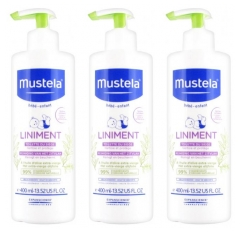 Mustela Liniment Flacon-Pompe Lot de 3 x 400 ml