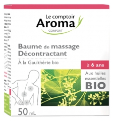 Le Comptoir Aroma Massage Balm Relaxing with Organic Essential Oils 50ml