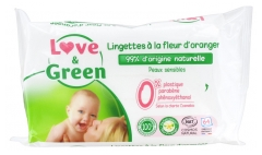 Love & Green Wipes with Orange Blossom 64 Wipes