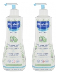 Mustela Gel Lavant Doux à l'Avocat Lot de 2 x 500 ml
