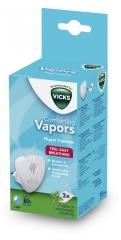 Vicks Comforting Vapors Electric Diffuser of Essential Oils + 2 Mint Refills