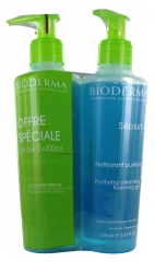 Bioderma Sébium Gel Moussant Nettoyant Purifiant Lot de 2 x 200 ml