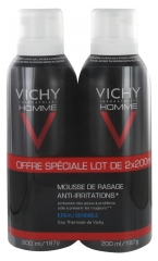 Vichy Homme Anti-Irritation Shaving Foam 2 x 200ml