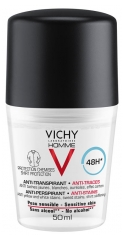 Vichy Homme 48H Antiperspirant Deodorant Anti-Mark Roll-On 50ml