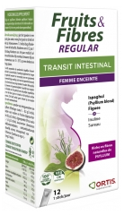 Ortis Fruits & Fibres Regular Transit Intestinal Femme Enceinte 12 Sticks