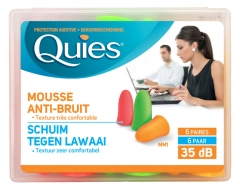 Quies Noise-Canceling Foam Ear Plug 6 Pairs
