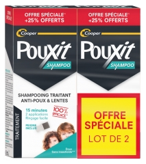 Pouxit Treatment Shampoo Anti-Lice & Nits 2 x 250ml