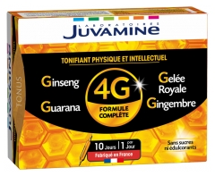 Juvamine 4G Ginseng Royal Jelly Guarana Ginger 10 Phials