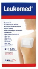 BSN medical Leukomed 5 Pansements Absorbants Non-Tissés 8 x 15 cm