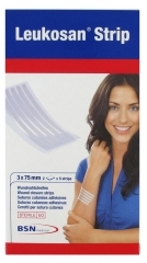 BSN Medical Leukosan Sterile Adhesive Wound Closure Strips 2 x 5 Strips 3 x 75mm