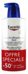 Eucerin UreaRepair PLUS Émollient 10% d'Urée Lot de 2 x 400 ml