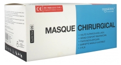 Orgakiddy Masque Chirurgical Facial Médical Haute Filtration EFB 95% 50 Masques