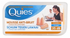 Quies Mousse Anti-Bruit 3 Paires