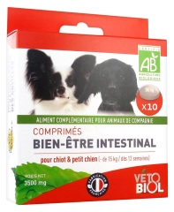 Vétobiol Organic Intestinal Well-Being Tablets For Puppy and Small Dog (-15 kg) 10 Tablets