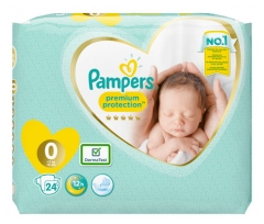 Pampers Premium Protection 24 Nappies Micro Size (1-2,5kg)