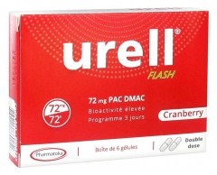 Pharmatoka Urell Flash Cranberry 6 Capsules