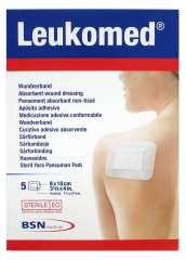 BSN medical Leukomed 5 Pansements Absorbants Non-Tissés 8 x 10 cm