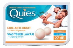 Quies Ear Protection with Wax Anti-Noise 12 Pairs