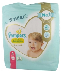 Pampers Premium Protection 23 Couches Taille 4 (9-14 kg)
