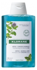 Klorane Detox - Normal Hair Shampoo with Mint Organic 200ml