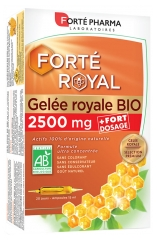 Forté Pharma Royal Jelly 2500mg Organic 20 Phials