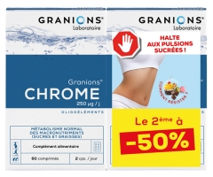Granions Chrome 250 µg Lot de 2 x 60 Comprimés