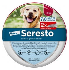 Seresto Pest Control Collar Large Dogs over 8kg 2 Collars