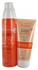 Avène Sun Spray SPF50+ 200ml + Trixera Nutrition Shower Cream 100ml Offered